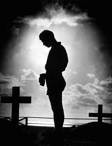Black And White World War Ii 1944 Bowing Man Gentl