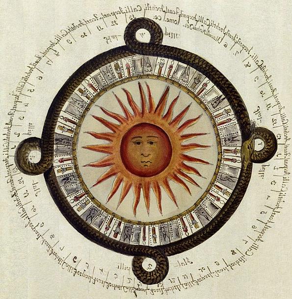 Aztecs Sundial Mexican Calendar Sun 1790 High Cult