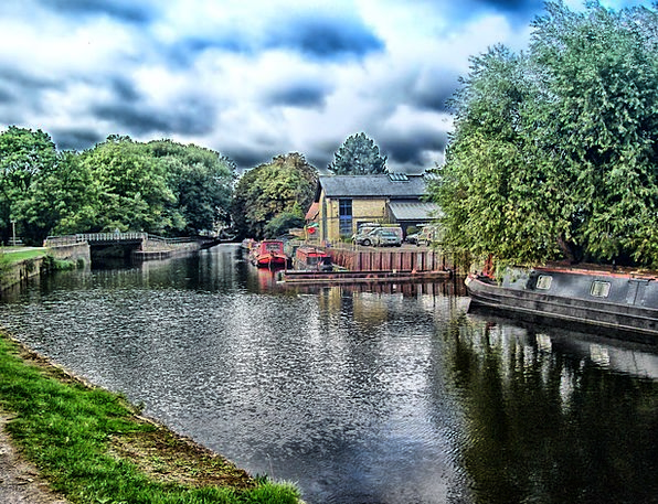 England Landscapes Waterway Nature Houseboats Cana