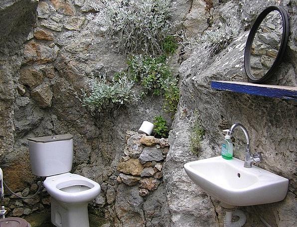 Greek Island Wc Kos Toilet Lavatory Rustic Simply
