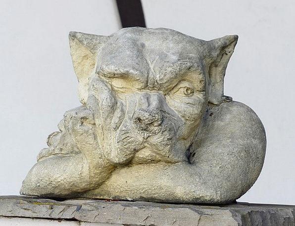 Statue Figurine Wolf Casanova Garden Statue Quench