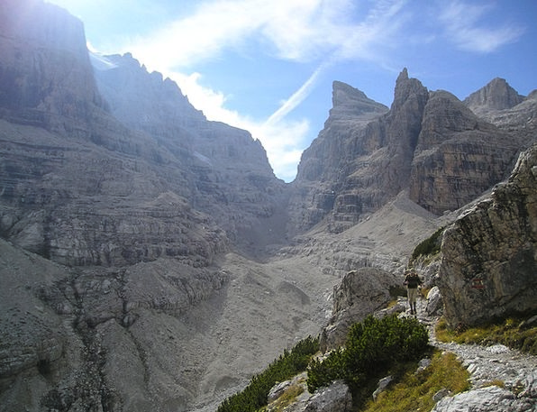 Brenta Crags Alpine Mountainous Mountains Alpinism