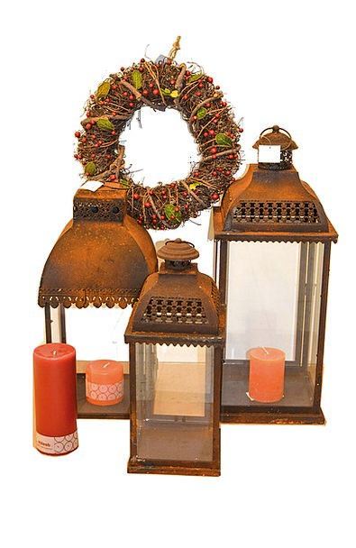 Lantern Lamp Rust Corrosion Christmas Candle Taper