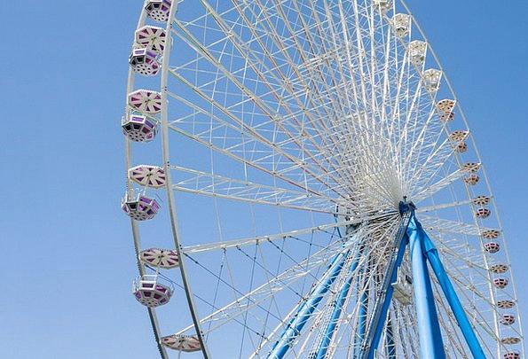 Ferris Wheel Monuments Places Fair Reasonable Year