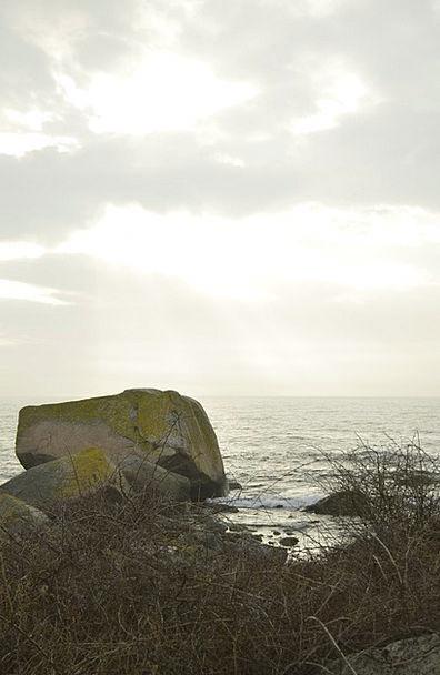Stone Pebble Vacation Sundown Travel Sea Marine Su