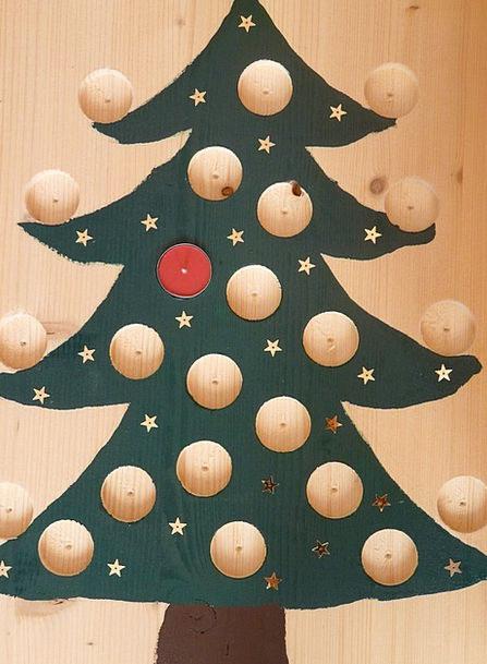 Christmas Tree Advent Arrival Advent Calendar Hand