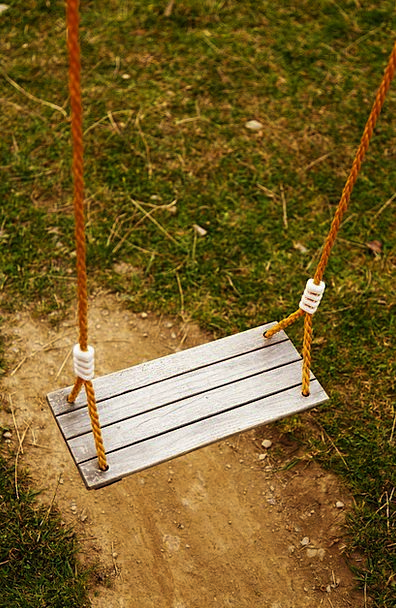 Empty Unfilled Amusing Grass Lawn Fun Swing Lonely