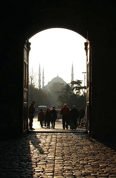 Mosque Door Entrance Istanbul Turkey Calm Shadow L