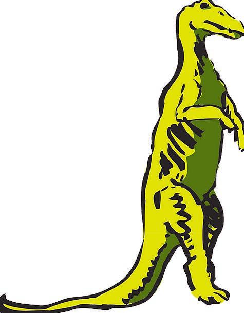 Dinosaur Relic Creamy Standing Stand-up Yellow Liz