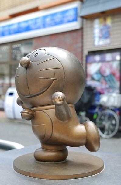 Doraemon Cat Feline Anime Decorative Statue Figuri