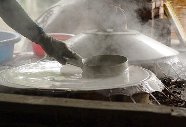 Dough Cash Making Creation Rice Noodles Bakery Ric