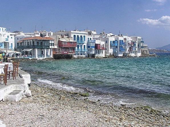 Mykonos Vacation Seashore Travel Sea Marine Beach