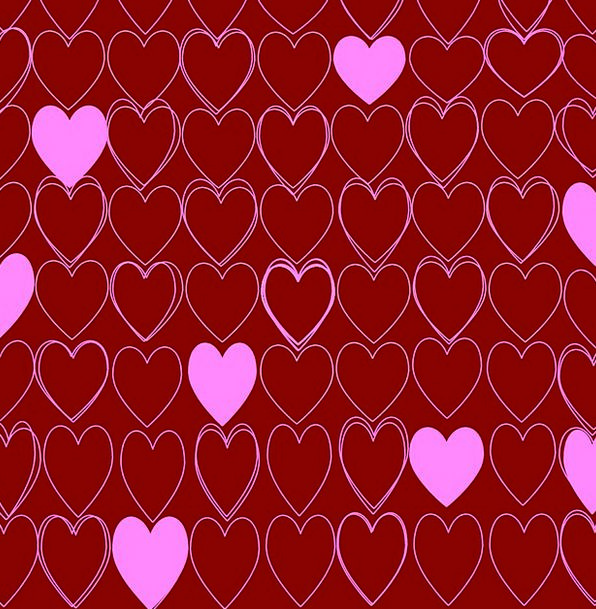 Hearts Emotions Bloodshot Pink Flushed Red Passion