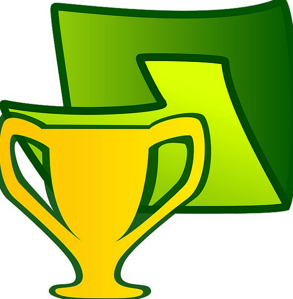 Trophy Cup Binder Green Lime Folder Success Golden