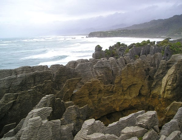 Pancake Pillars Punakaiki Rocks New Zealand Rocky