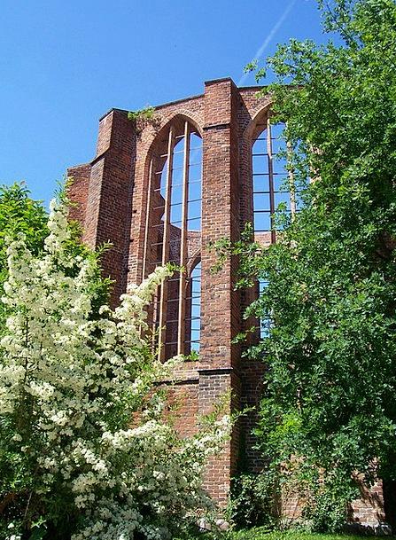 Ruin Devastation Cloister Stralsund Monastery Hous