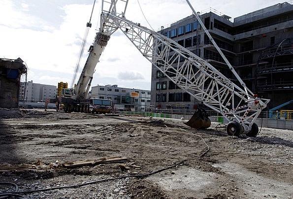 Construction Site Backhoe Construction Equipment