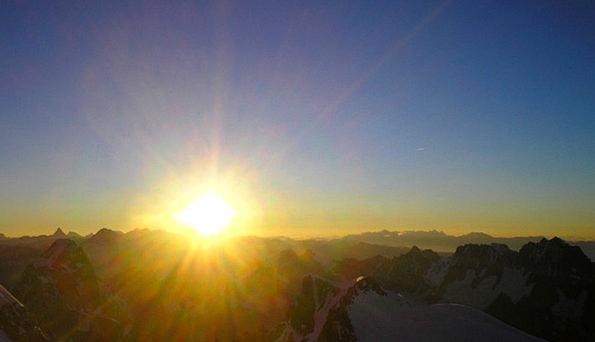 Mont Blanc Landscapes Conference Nature Sunrise Da