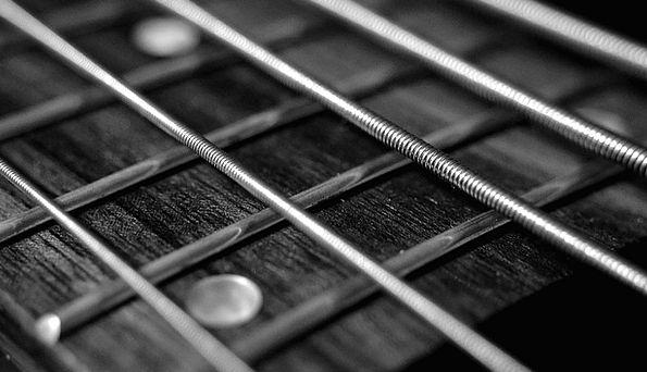 String Cord Deep-toned Guitar Bass Guitarist Music