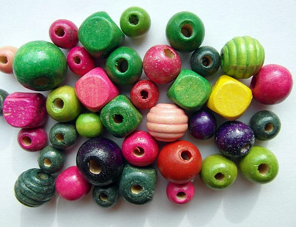 Wood Beads Interesting Color Hue Colorful Hobby Wo