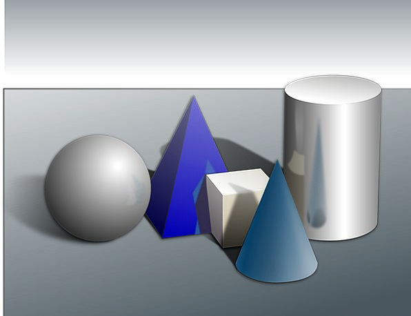 Shapes Forms Cylinder Tube Obejcts Silver Cones Pi