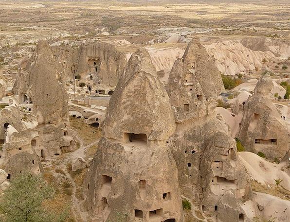 Uchisar Nev?ehir Cappadocia Turkey Rock Apartments