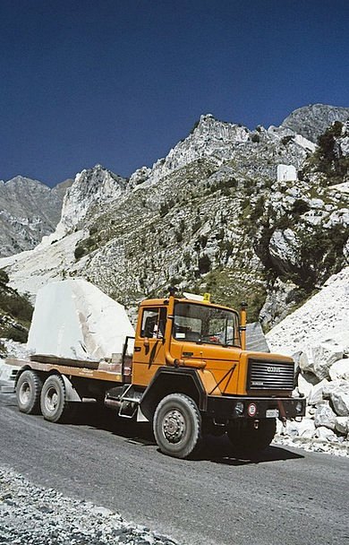 Carrara Marble Traffic Transportation Quarry Pit I