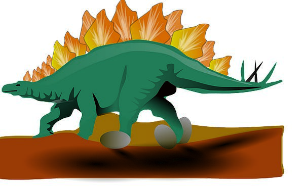 Dinosaur Relic Dino Stegosaurus Animal Physical Pr
