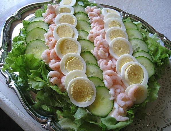 Smörgåstårta Spawns Salad Eggs Cucumber Barrel Veg