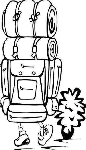 Backpacking Traveler Hiking Mountaineering Backpac