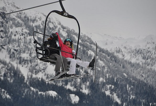 Skiing Canada Whistler Ski Lift British Columbia W
