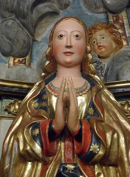 Virgin Mary Sculpture Maria Spain Christianity Jun