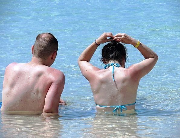 Bikini Two-piece Vacation Basking Travel Sunbath S