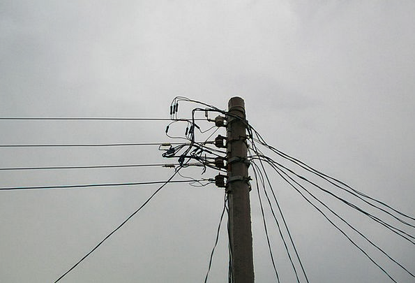 Cables Chains Ropes Pole Opposite Wires Power Cont