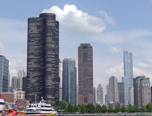 Chicago Buildings Center Architecture Skyline Hori