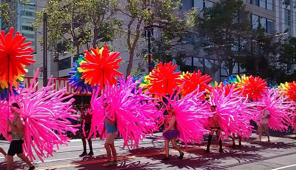 Gay Parade Gay San Francisco Pink Flushed United S