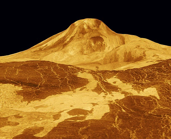 Maat Mons Planet Earth Venus Surface Superficial S