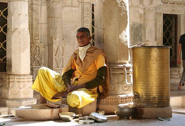 Monk Friar Thought Rajasthan Meditation Religion F