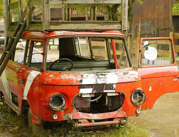 Barkas Minivan Auto Car Minibus Car Wreck Scrappin