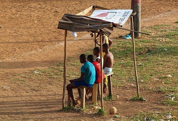 Football Match Children Fans Admirers Kids Simplic