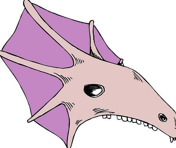 Skull Mind Elaborate Strange Odd Purple Creature B