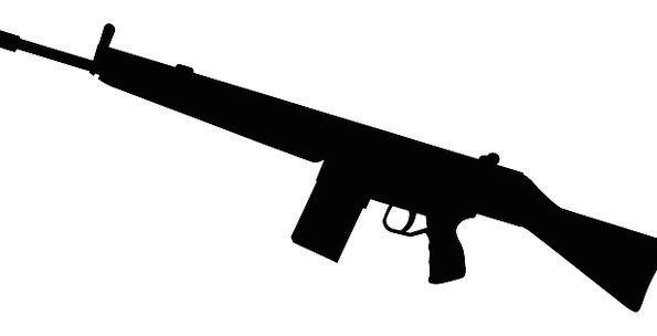Gun Firearm Armament Silhouette Outline Weapon Fir
