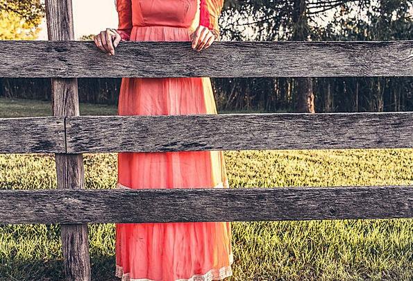Maid Earliest Fence Barrier Maiden Girl Countrysid