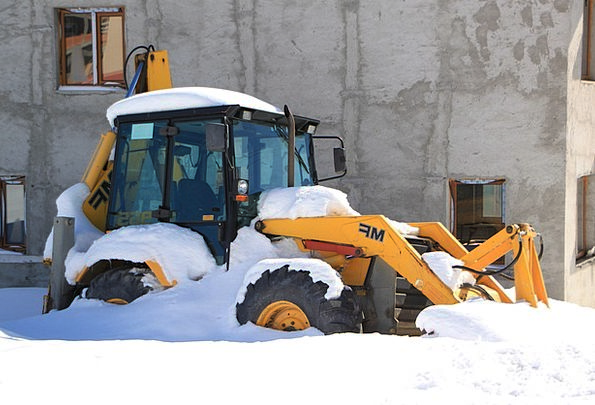 Backhoe Emotionless Digger Miner Cold Snowplow Tec