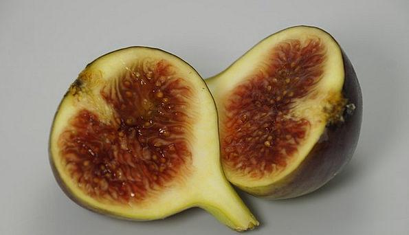 Fig Drink Ovary Food Cut Censored Fruit Half Parti