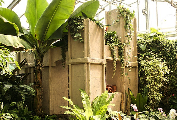 Greenhouse Conservatory Landscapes Nature Terracot