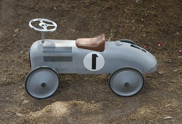Gray Leaden Traffic Doll Transportation Car Carria