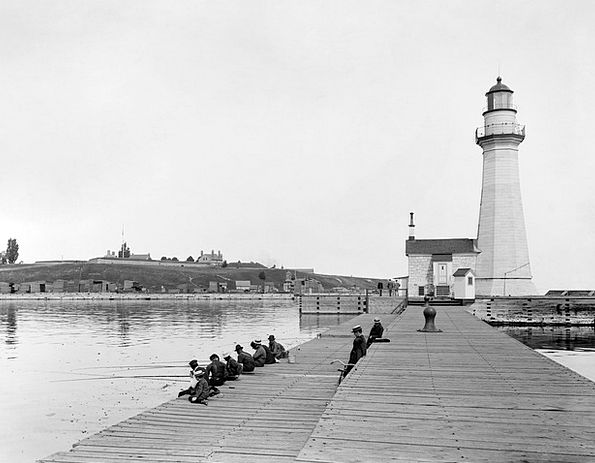 Lighthouse Buildings Dock Architecture Angler Pier