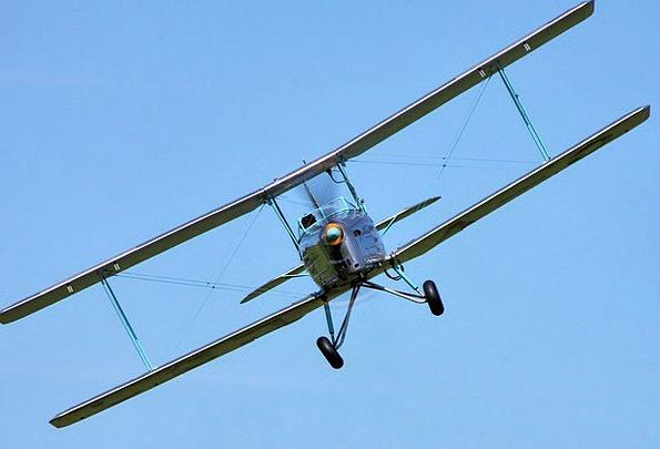 Biplane Traffic Transportation Propeller Double-De