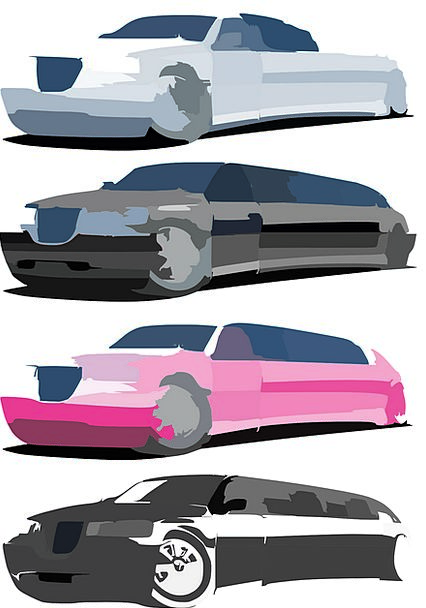 Cars Carriages Blurred Blurry Limo Bragging Arroga